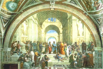 Examples Of Persuasive Essays For High School A Fresco The School Of Athens By Raphael Depicts The Early Scholars  Pythagoras Is The Person Seated Lower Left Writing In A Book Thesis Statement In Essay also Writing A High School Essay Essay Did God Create Science Christianity And The Uniqueness Of  Essay English Example